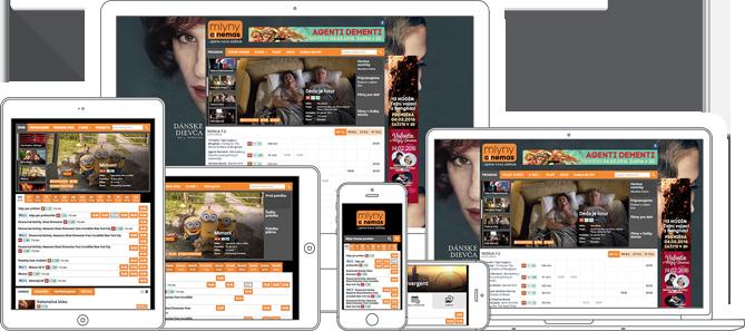 Webová šablóna pre kino a multikino